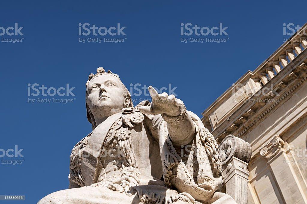 Queen Victoria Statue stock photo