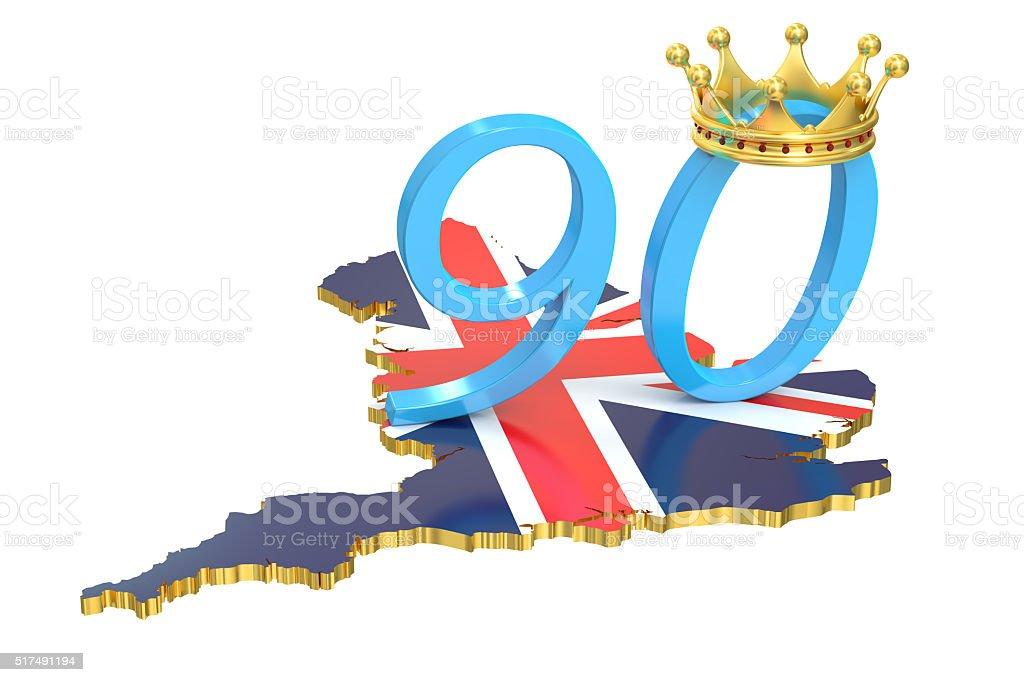 UK Queen's Anniversary concept, 3D rendering stock photo