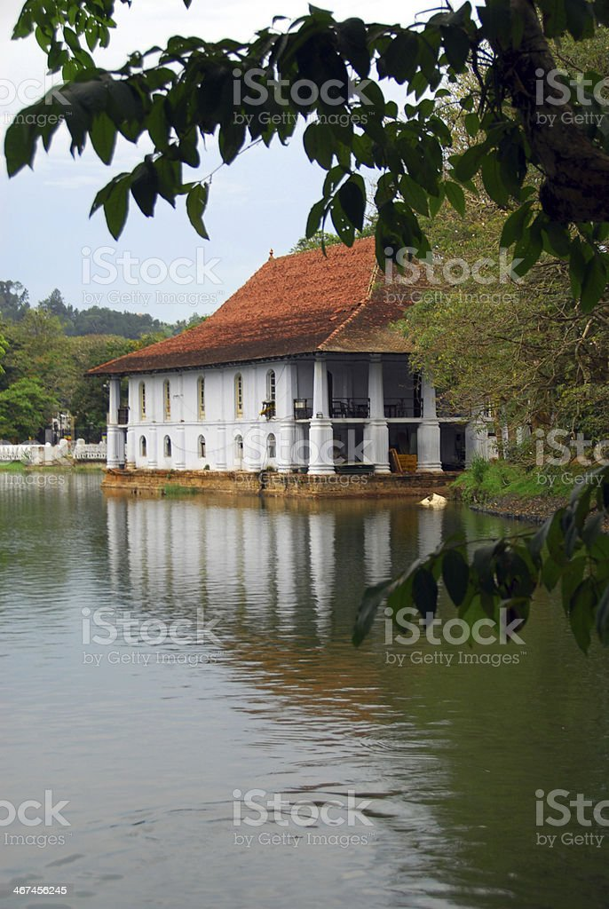 Queens bath, Temple of the Tooth in Kandy, Sri Lanka stock photo