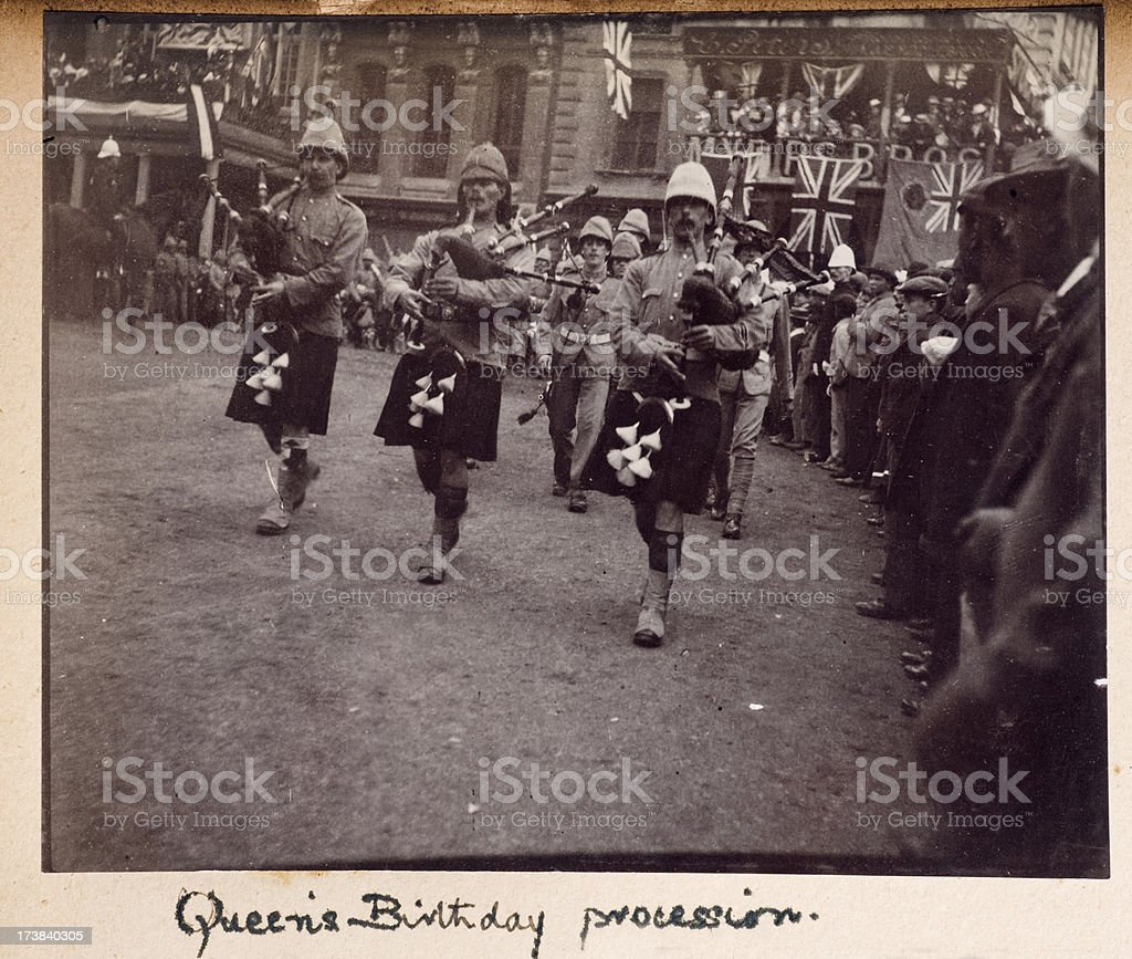 Queen's Birthday Procession South Africa Boer War stock photo