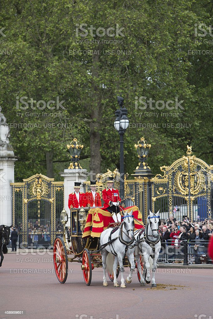 Queens Carriage stock photo