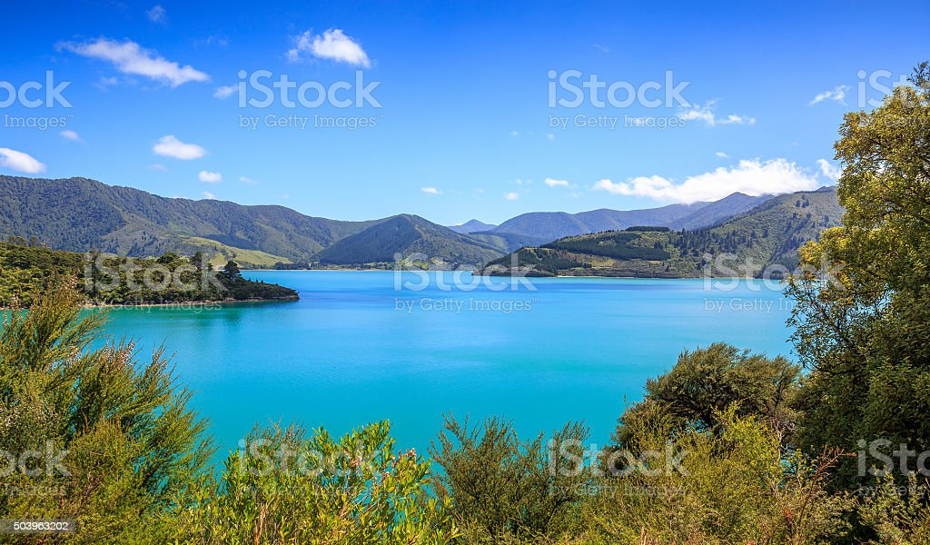Queens Charlotte Sound stock photo