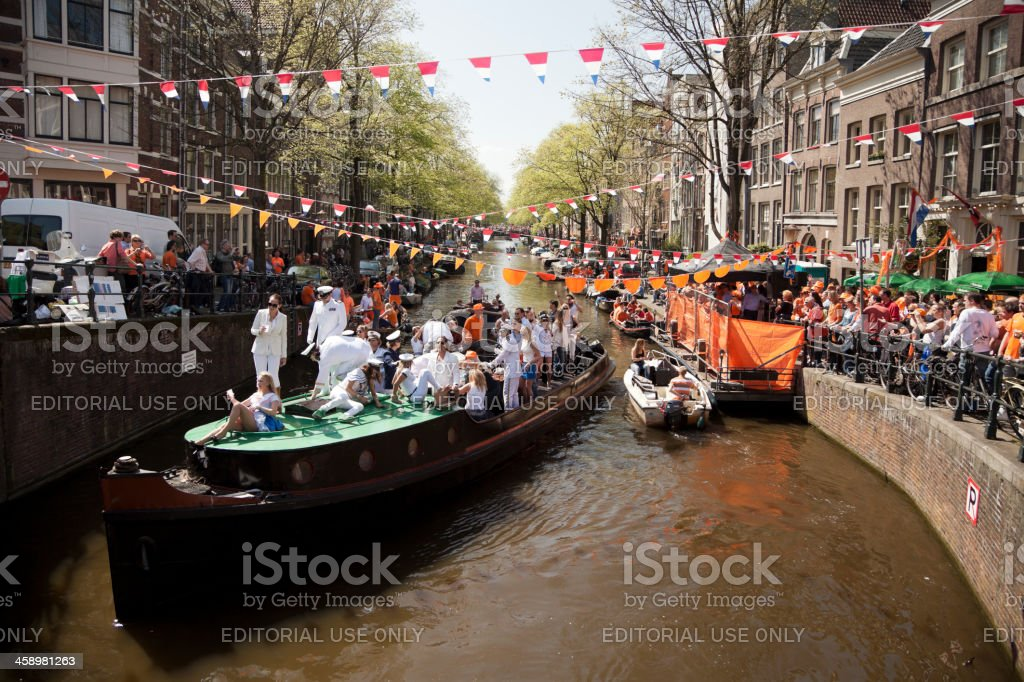 Queen's Day in Amsterdam stock photo