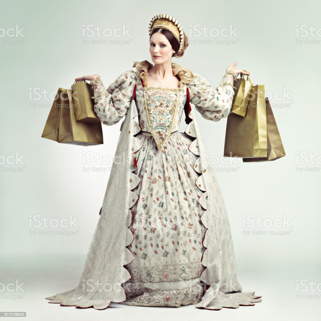 Queens don't wait for sales stock photo