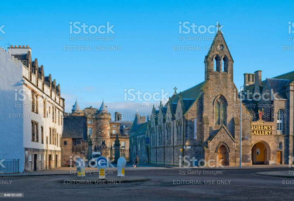 Queen's Gallery and Holyroodhouse in Edinburgh, United Kingdom stock photo