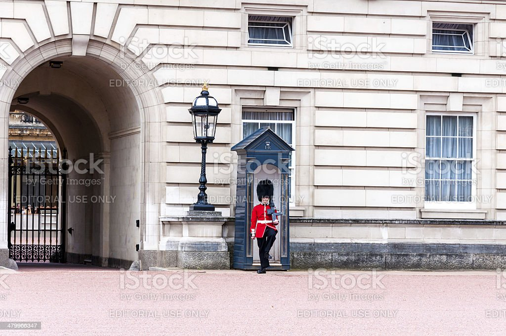 Queen's Guard at  Buckingham Palace stock photo