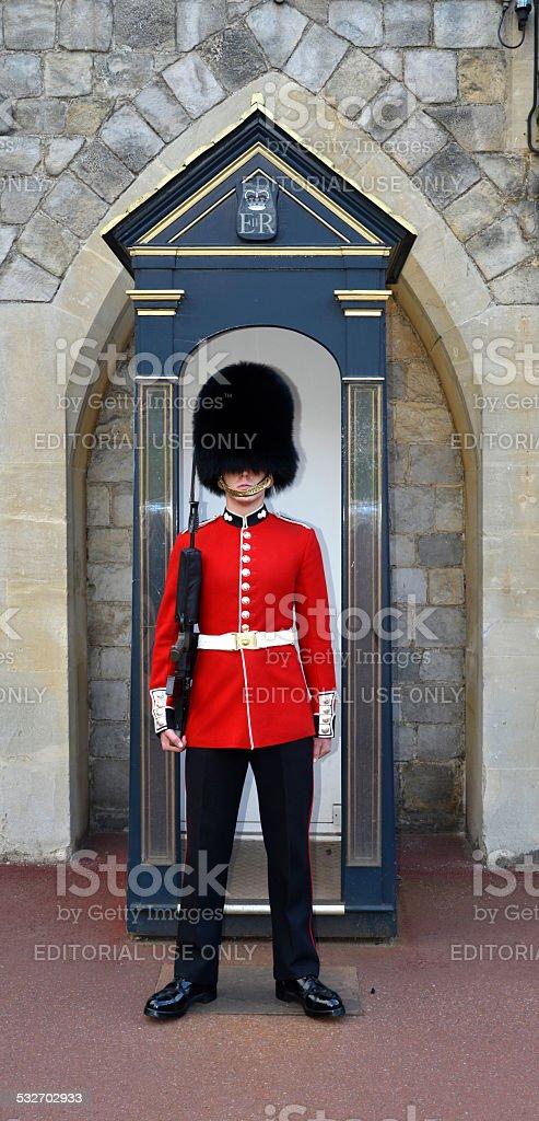 Queens guard. London England. stock photo
