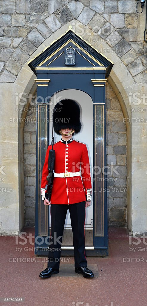 Queens guard. London England. stock photo