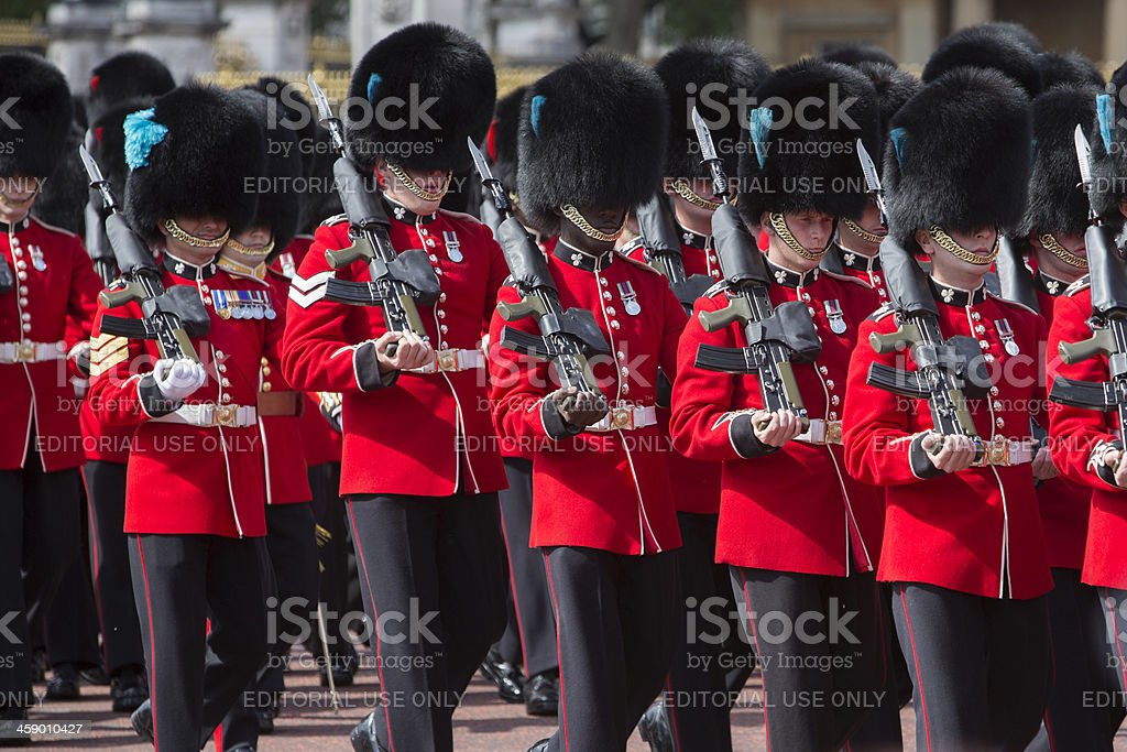 Queen's Guard Marching royalty-free stock photo