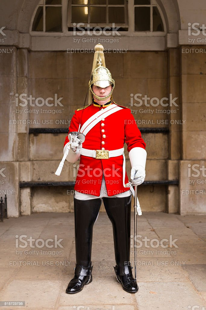 Queens Guardsman stock photo