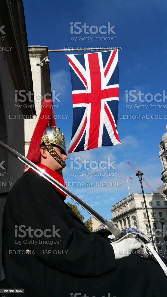 Queen's Horse Guard stock photo