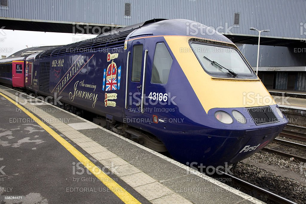 Queen's Jubilee Livery On a First Great Western Train stock photo