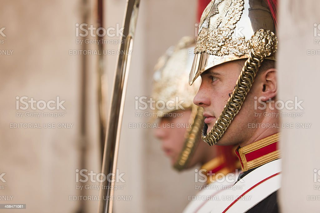 Queen's Life Guard royalty-free stock photo