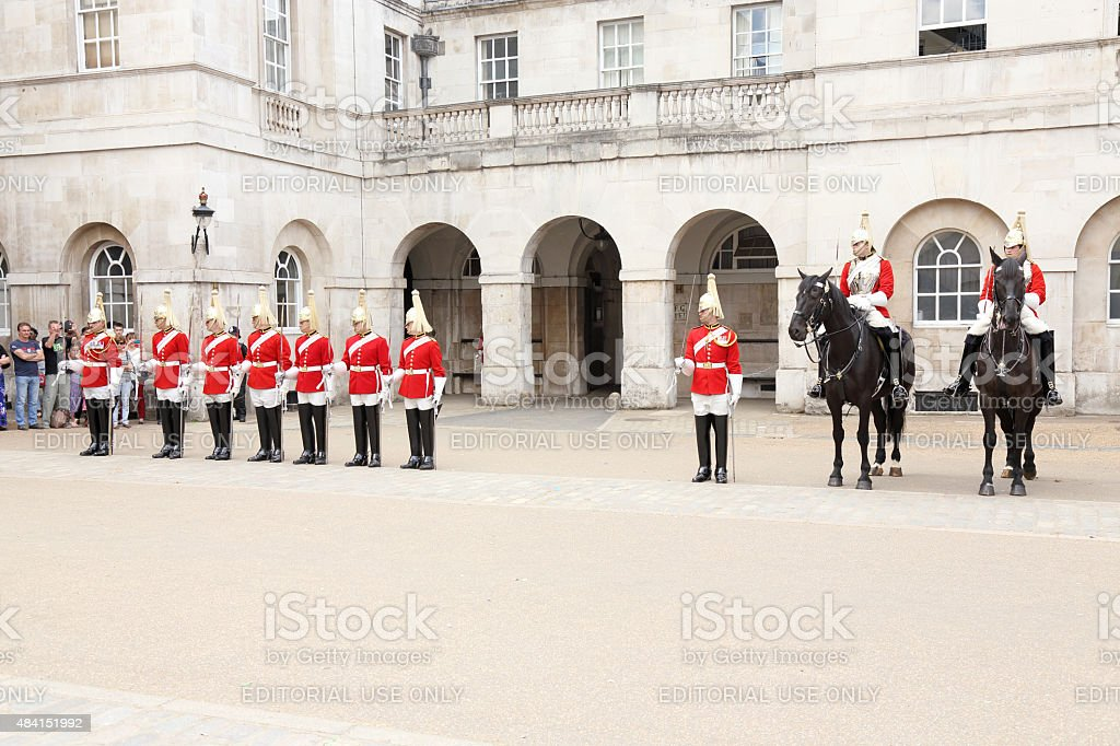 Queen's Life Guard stock photo