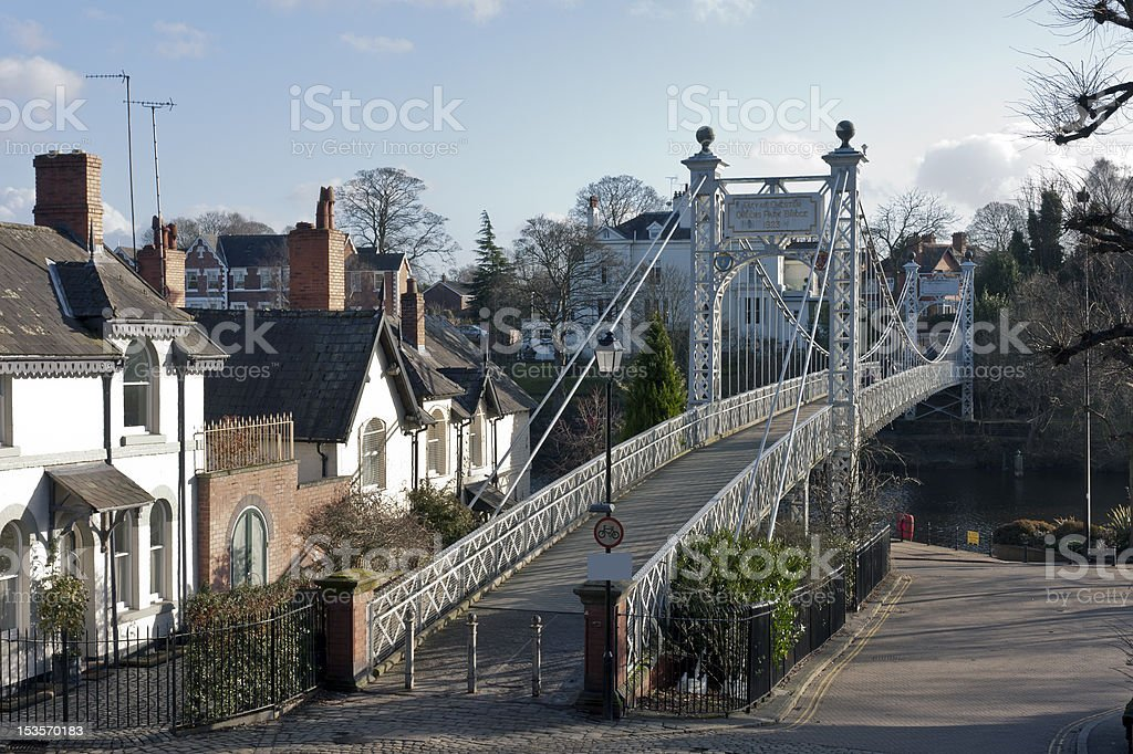 Queens Park Foot Bridge, Chester royalty-free stock photo