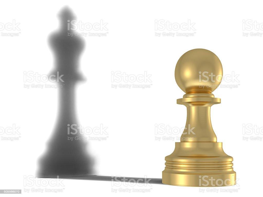 Queen's shadow stock photo