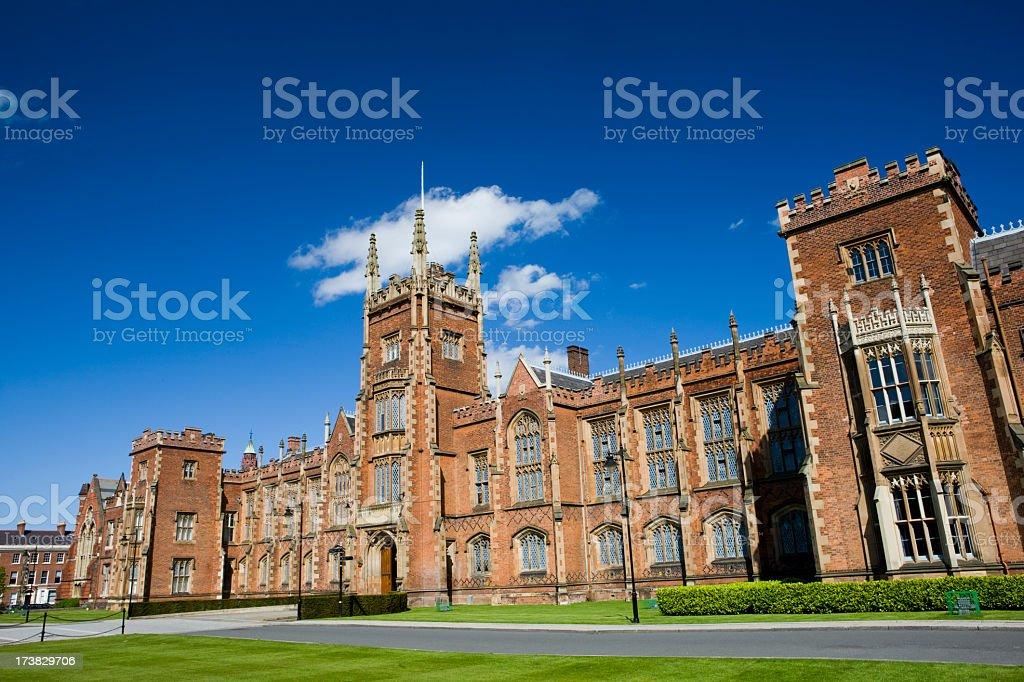 Queens University campus at Belfast, Northern Ireland stock photo