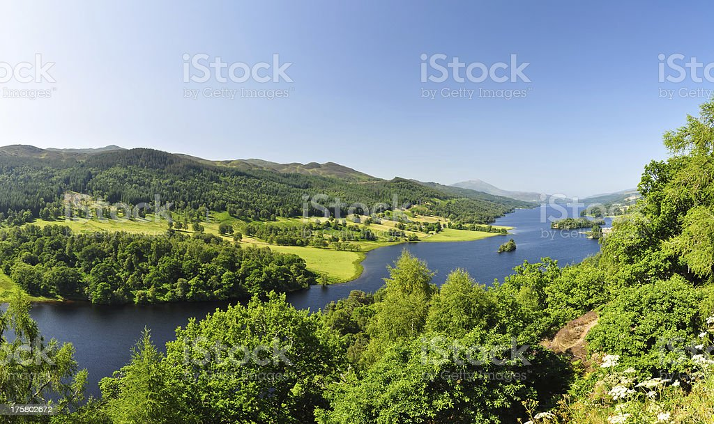 Queen's View at Loch Tummel - Scotland, UK royalty-free stock photo