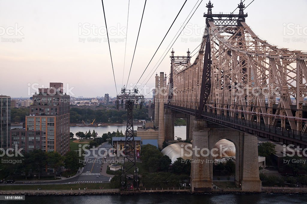Queensboro Bridge in New York City royalty-free stock photo