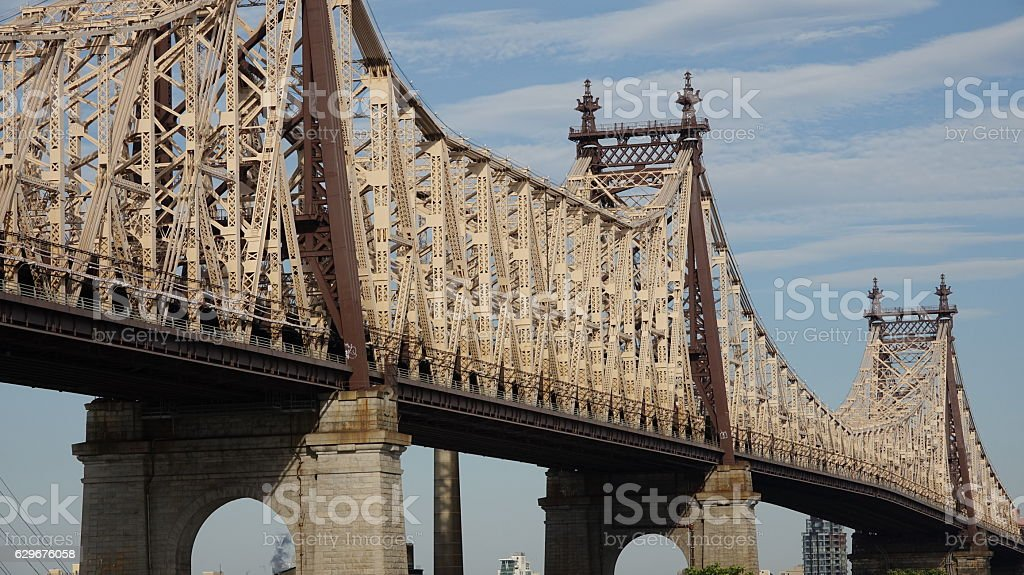 Queensboro Bridge In Nyc stock photo