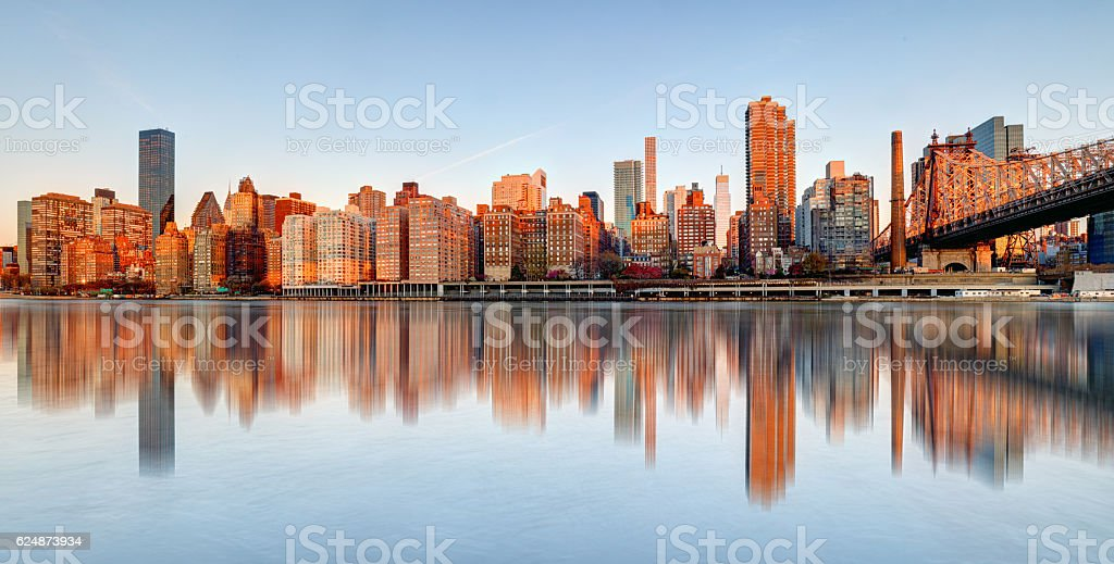 Queensboro Bridge, New York City, USA. stock photo