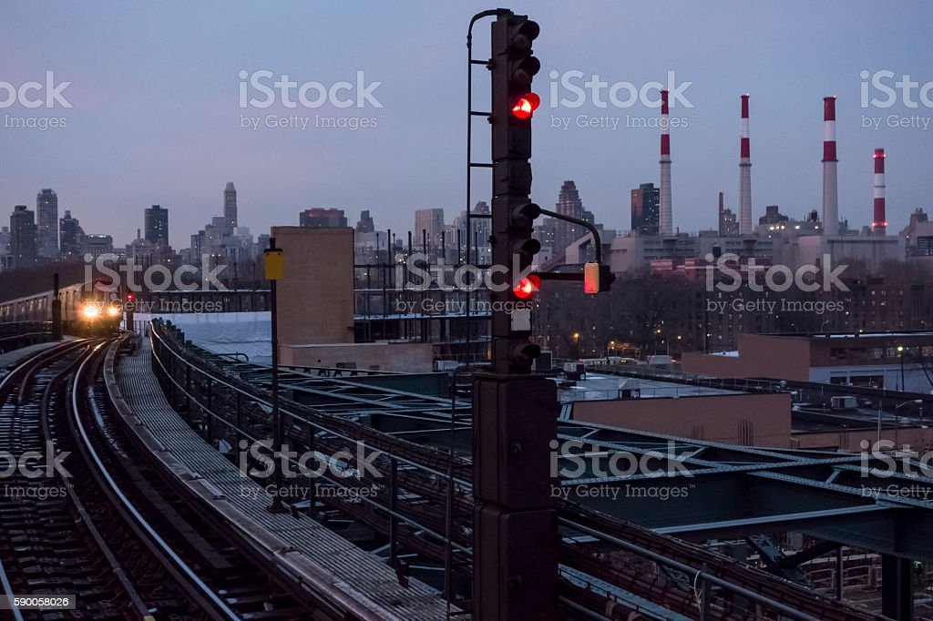 Queensboro Plaza Subway Station stock photo