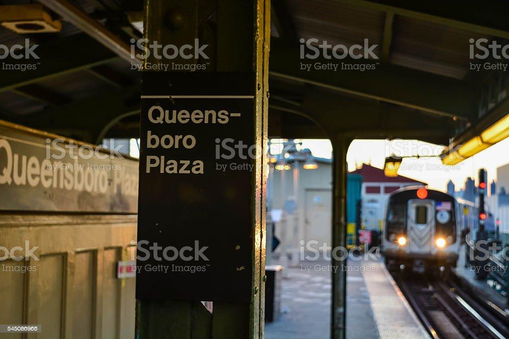Queens-boro Plaza train station stock photo