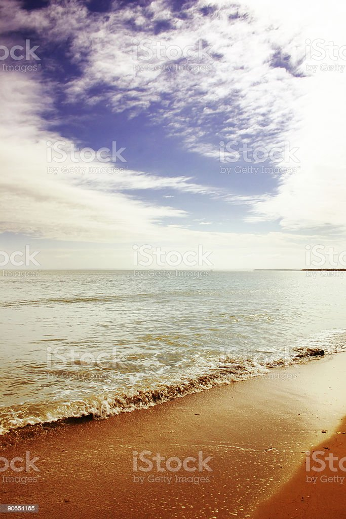 Queensland Beach royalty-free stock photo