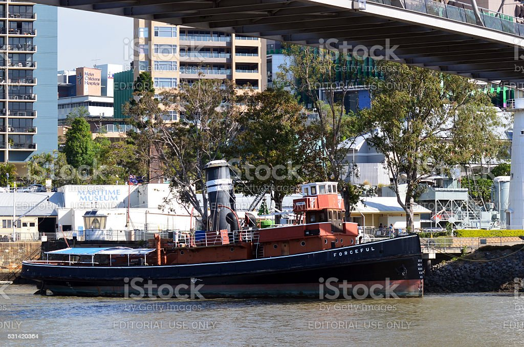 Queensland Maritime Museum in Brisbane stock photo
