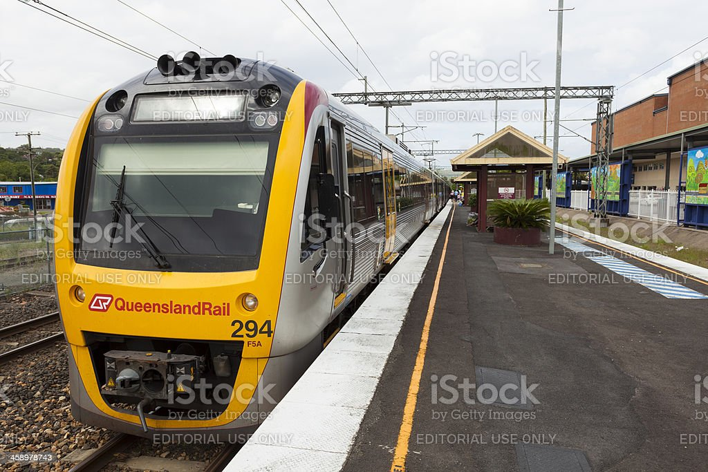 Queensland Rail Train at Nambour, Australia stock photo