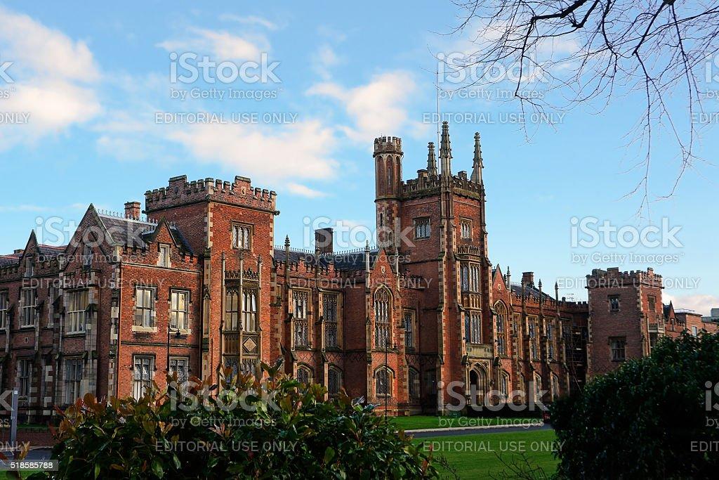 Queens's University Belfast stock photo