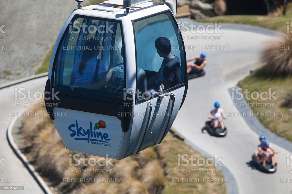 Queenstown New Zealand Skyline Gondola and Luge stock photo