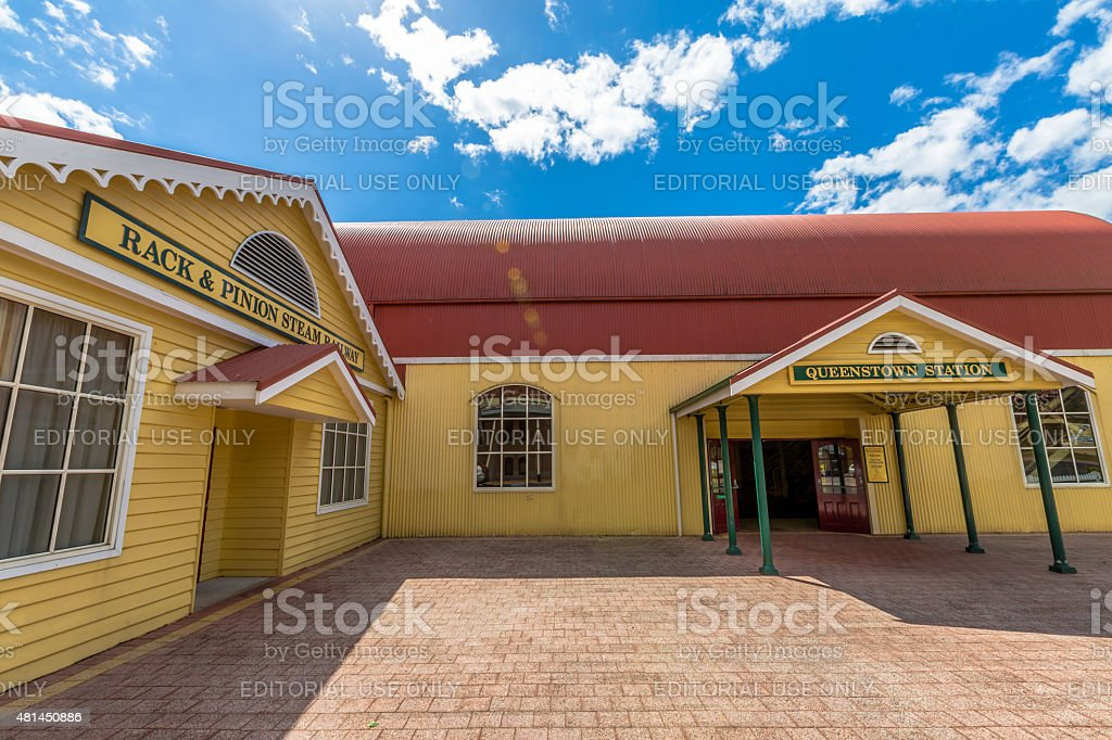 Queenstown Station Tasmania stock photo