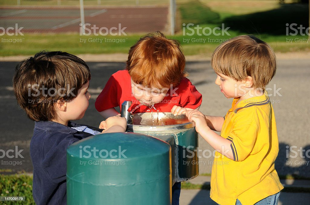 Quenching our thirst stock photo