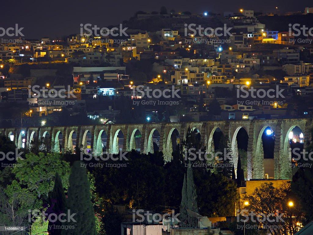 Queretaro Aqueduct stock photo