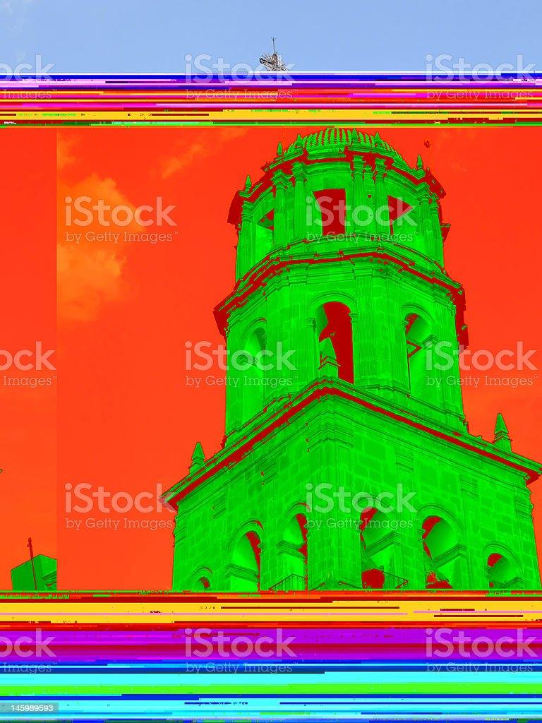 Queretaro Church Bell Tower stock photo