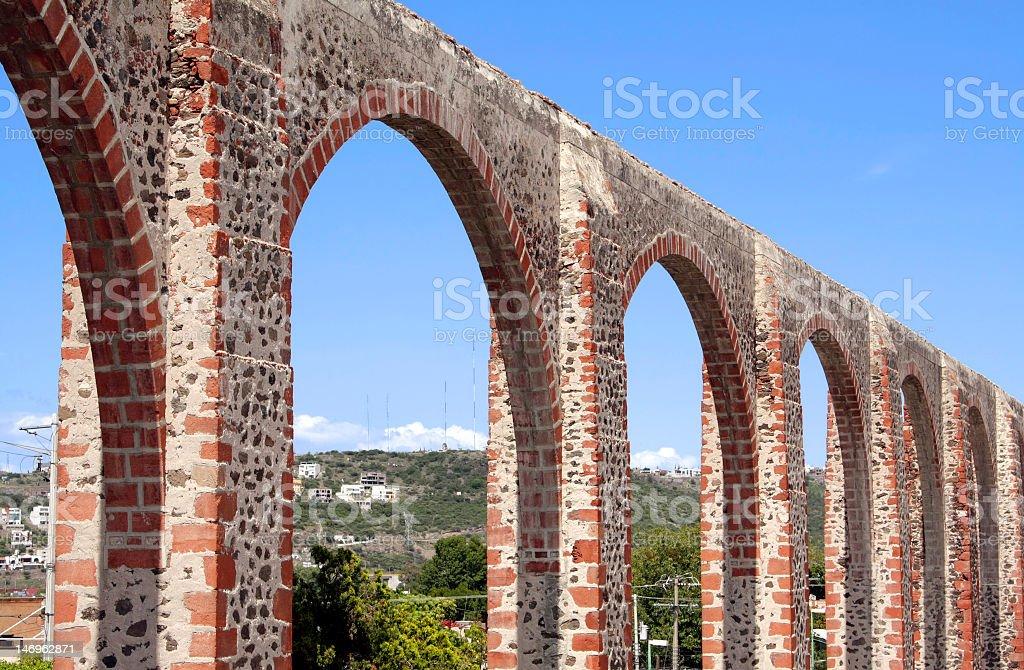 Queretaro's Los Arcos stock photo