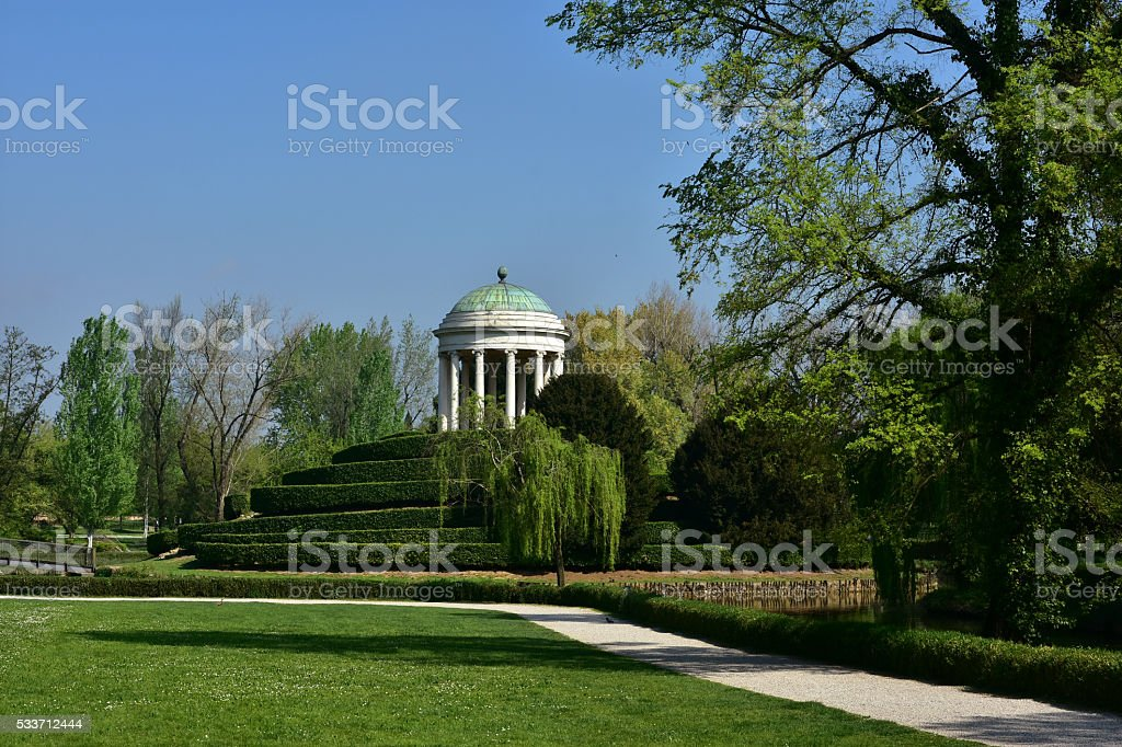 Querini park in Vicenza stock photo