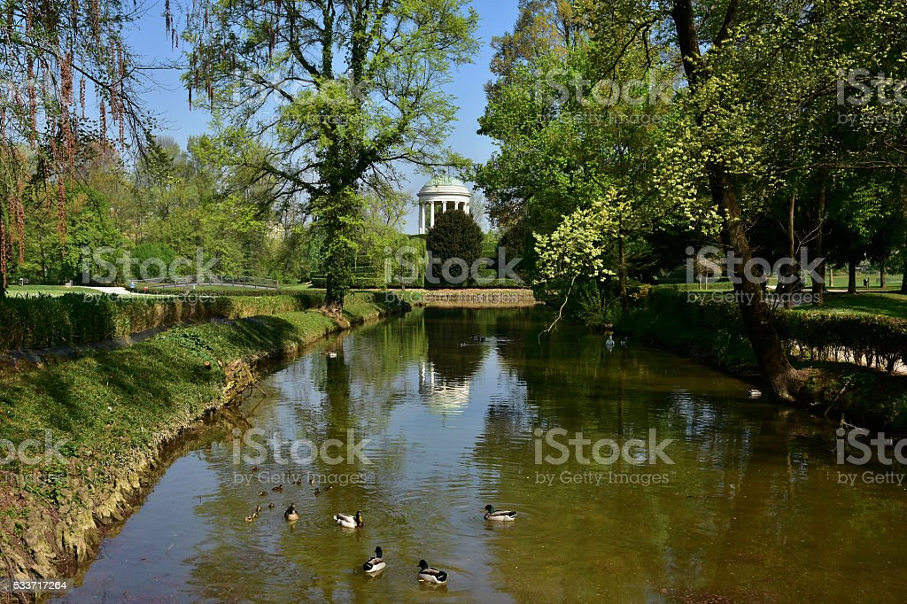 Querini park lake stock photo