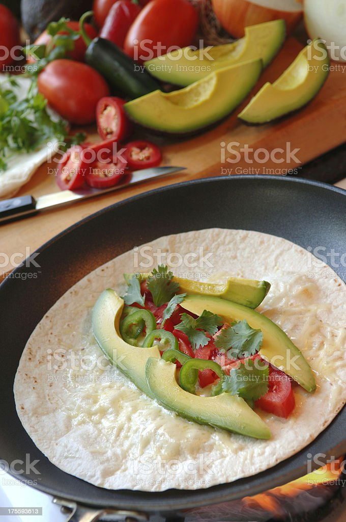 Quesadilla royalty-free stock photo