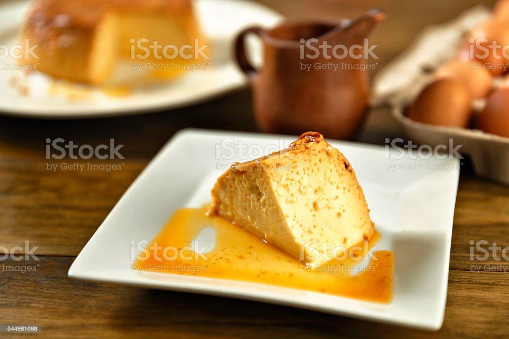 Quesillo a typical Venezuelan dessert stock photo