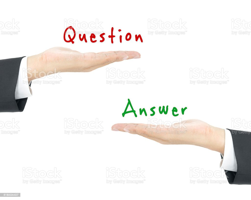 Question and answer concept stock photo