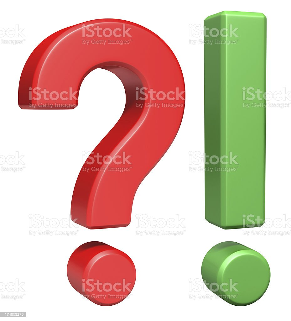 Question and Answer royalty-free stock photo