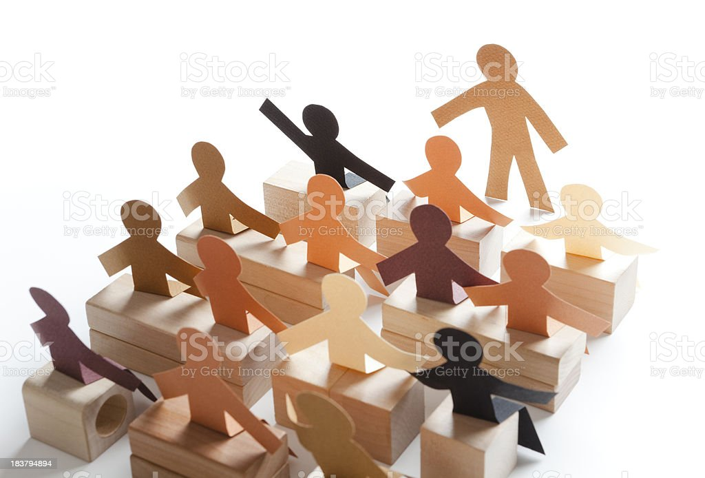 Question and answer session - class participation paper concept royalty-free stock photo