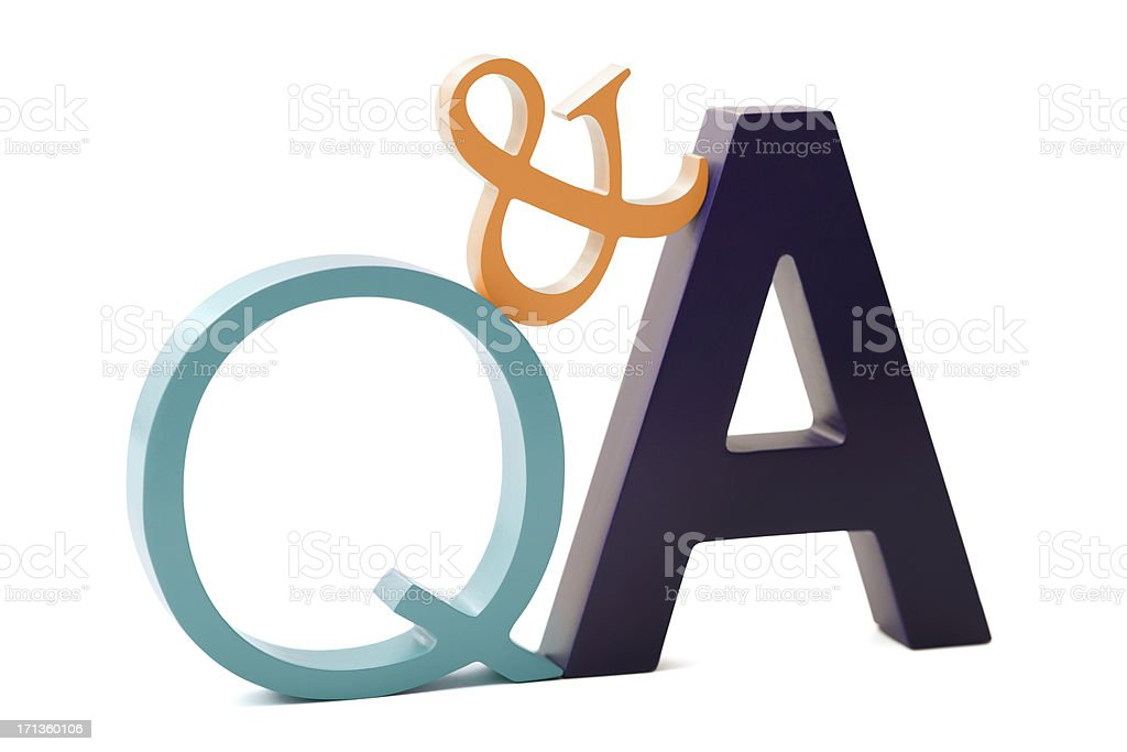 Question and Answers royalty-free stock photo
