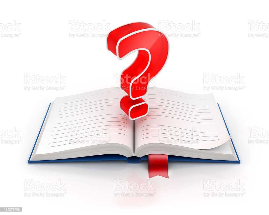 question and help manual book royalty-free stock photo