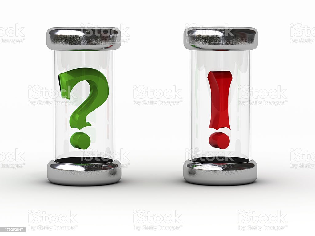 question - answer (green, red) stock photo