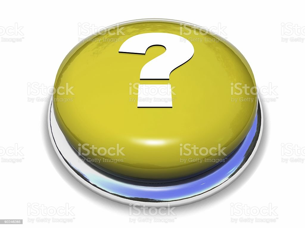 Question button royalty-free stock photo