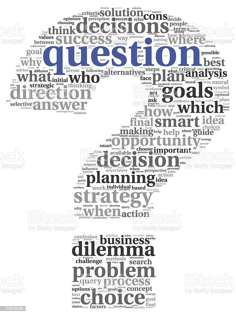 Question concept in tag cloud royalty-free stock photo