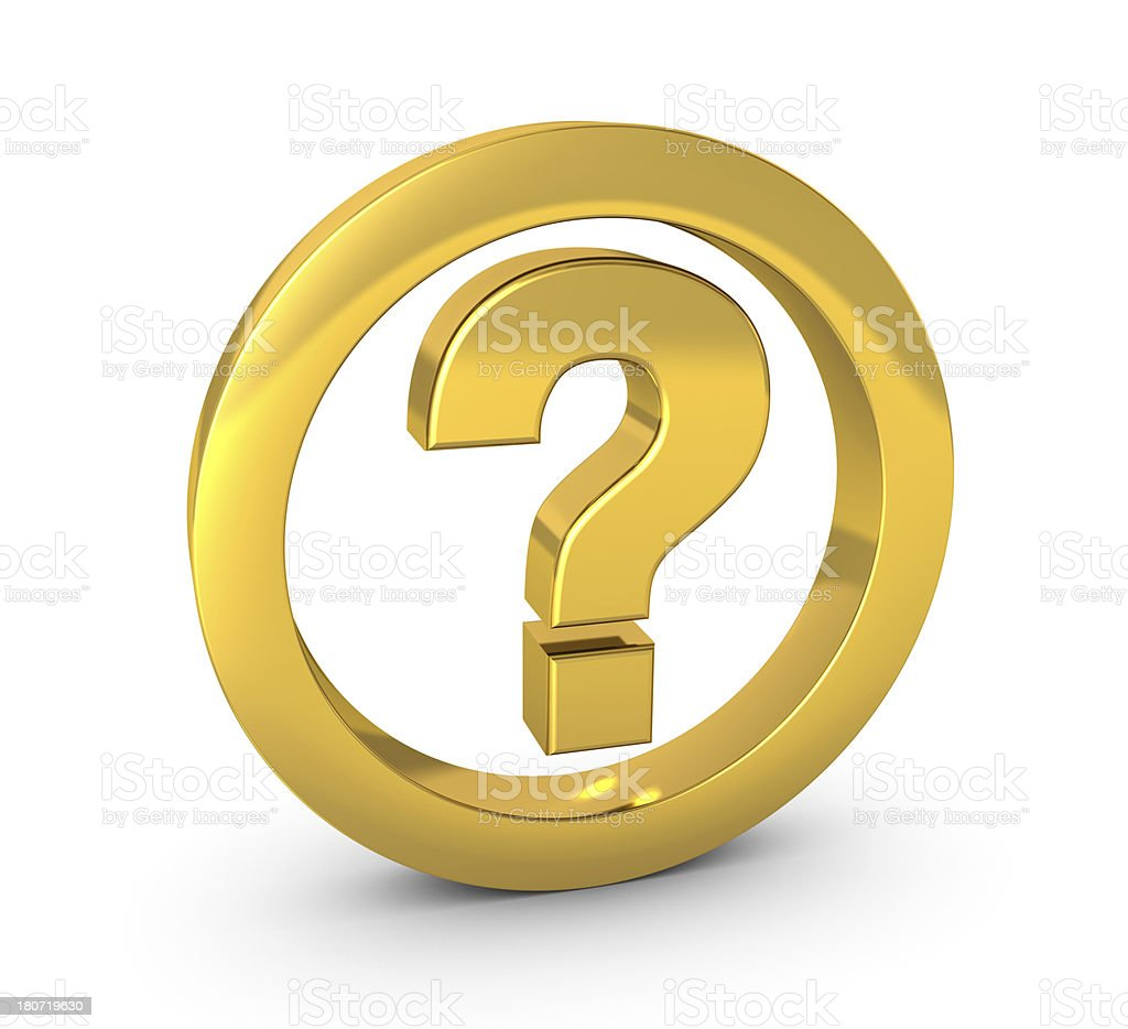 Question Concept royalty-free stock photo